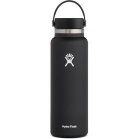 Hydro Flask Wide Mouth Bidón con Tapa Flex 1180ml, negro